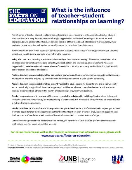 Teacher-Student Relationships | TDSB Professional Library