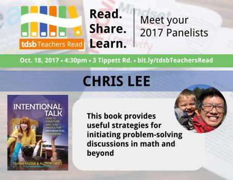 TDSB Teachers Read Promo_ChrisLee