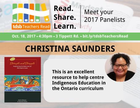 TDSB Teachers Read Promo_ChristinaSaunders