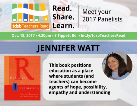 TDSB Teachers Read Promo_JenniferWatt