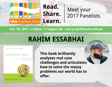 TDSB Teachers Read Promo_Rahim